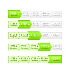 Progress bar for order process vector