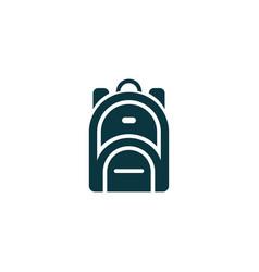 Rucksack icon simple vector