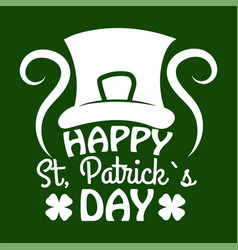 Saint patrick day symbol of leprechaun hat and vector