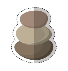 Stones spa isolated icon vector