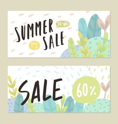 Summer sale flyers vector