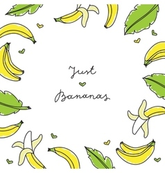 Frame of bananas vector