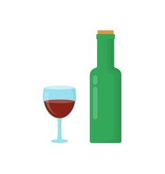 Bottle of wine with cork vector
