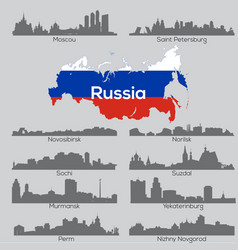 Russia cities skylines vector