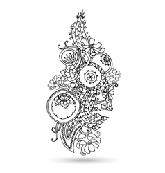 Henna paisley mehndi abstract element vector
