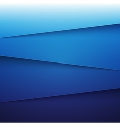 Blue paper layers abstract background vector