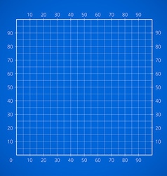 Blueprint squared paper sheet vector
