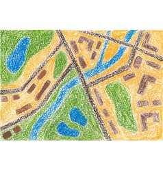 Maps color pencil vector