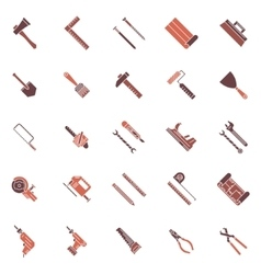 Work tools icons or symbols vector