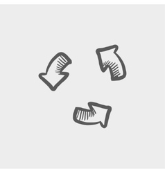 Replay button sketch icon vector