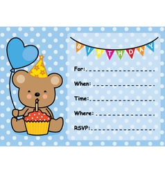 Invitation Card Birthday boy vector image
