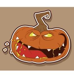 wicked pumpkin vector image