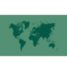 Green halftone political world map vector