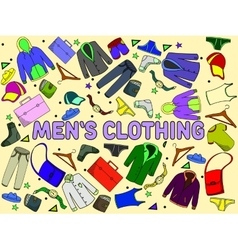 Men clothing vector