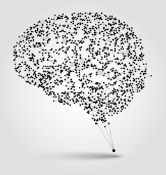 Abstract human brain from dots and lines vector image