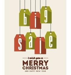 Sale label icon merry christmas design vector