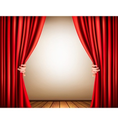 Background with a stage and a curtain vector image vector image