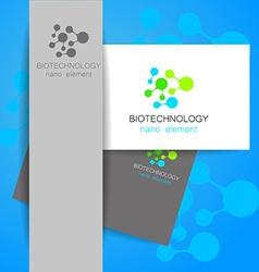 Biotechnology logo vector