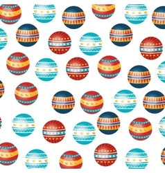 Circus ball pattern icon vector