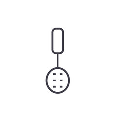 colander line icon sign on vector image