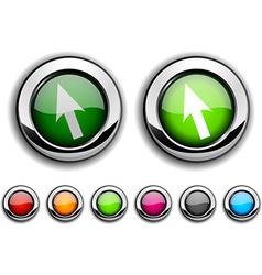 Cursor button vector image vector image