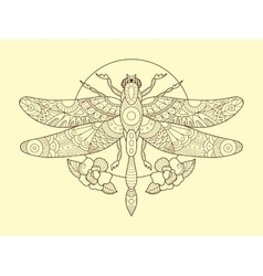 Dragonfly color drawing vector
