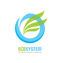 ecology system logo template concept vector image