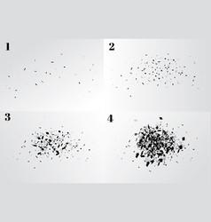 Explosion cloud of black pieces vector