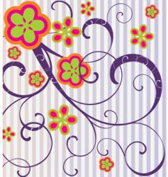 flowers and spirals vector image vector image