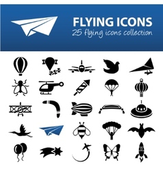 Flying icons vector