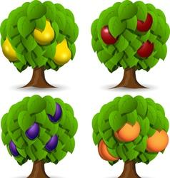Fruit trees vector