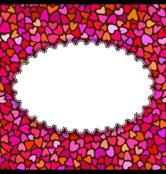 Hand drawn hearts romantic background or greeting vector image vector image