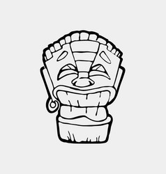 hand drawn totem face symbol vector image