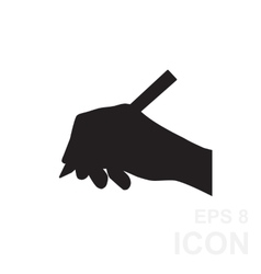 Hand writing simple black icon vector image vector image