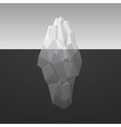 Iceberg background in low poly style vector