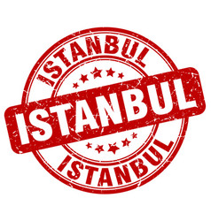 Istanbul red grunge round vintage rubber stamp vector