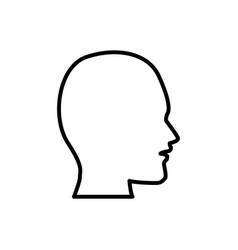 man head silhouette vector image vector image