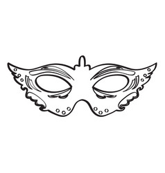 mardi gras mask icon vector image