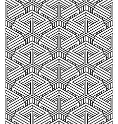 Monochrome abstract interweave geometric seamless vector