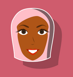 paper sticker on theme arabic business portrait vector image vector image