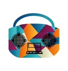 Radio old isolated icon vector