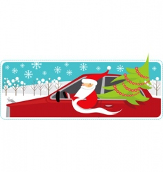 Santa mobile vector