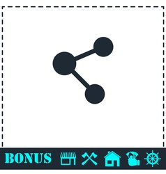 Share icon flat vector