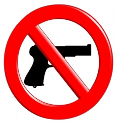 sign of prohibited weapons vector image