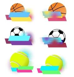 Sport balls banners set vector image