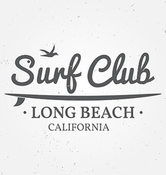 Surfing concept for shirt or logo print stamp for vector