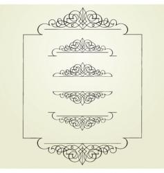 swirl borders vector image