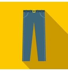 Trousers with belt icon in flat style vector