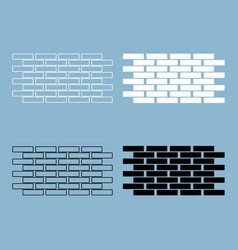 Wall set icons the black and white color icon vector