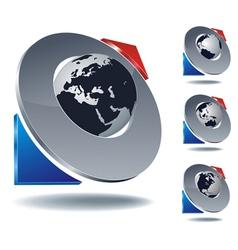 logo arrow planet vector image